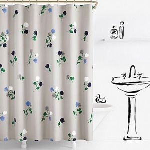 🆕 Kate Spade Willow Court Floral Shower Curtain